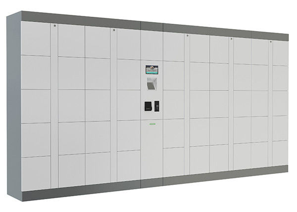 Intelligent Parcel Delivery Lockers with Industrial PC , SMS Input Password Click and Collect Lockers