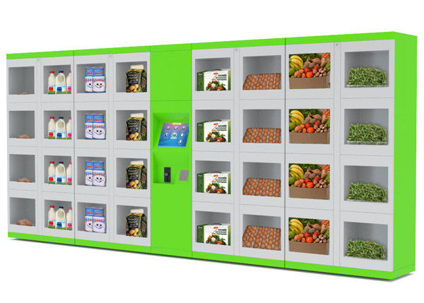 automatisierte k hlschrank nahrungsmittelverkauf schlie fach verschiedene gr en t ren f r. Black Bedroom Furniture Sets. Home Design Ideas